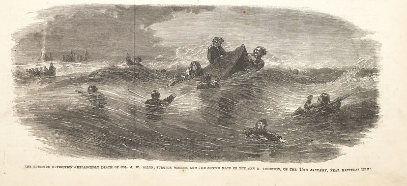 Incidents of Burnside Expedition Allen drowning-002