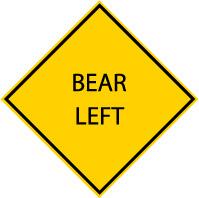 Bear-left-sign