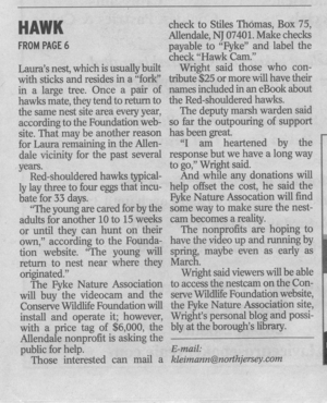 Town Journal RS Hawk Story B