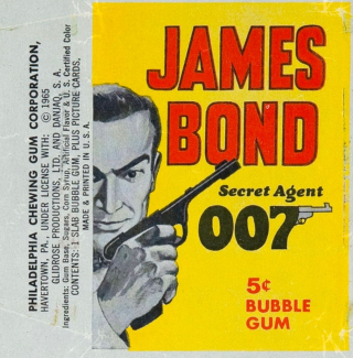 1-4Bond Bubble gum card