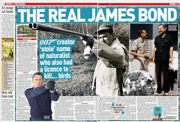 Real James Bond article Daily Mirror's Sunday People section 011220