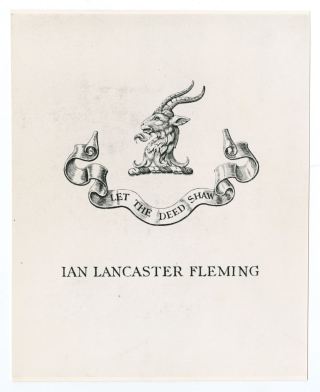 Ian Fleming Bookplate
