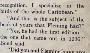 Bond quote ofn Fleming's 1936 edition