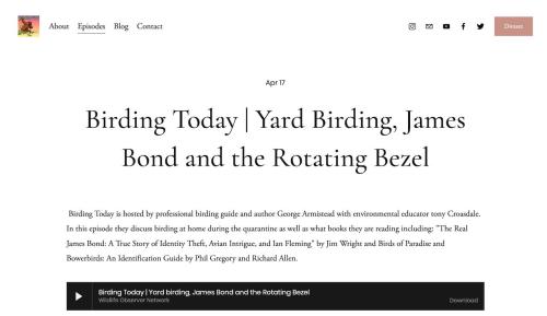 Birding Today podcast 0417